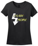 Ladies Black I Flash People - Photographer Humor Silly Gift Photo Digital T-shirt