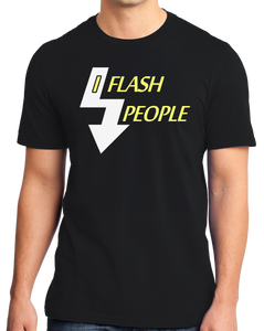 Standard Black I Flash People - Photographer Humor Silly Gift Photo Digital T-shirt