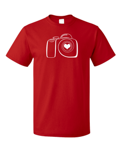 Standard Red PHOTOGRAPHY LOVE T-shirt