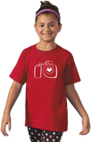Youth Red PHOTOGRAPHY LOVE T-shirt
