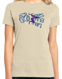 Ladies Natural MOM'S GONNA SNAP! T-shirt