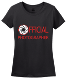 Ladies Black OFFICIAL PHOTOGRAPHER T-shirt