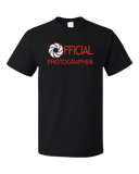 Standard Black OFFICIAL PHOTOGRAPHER T-shirt