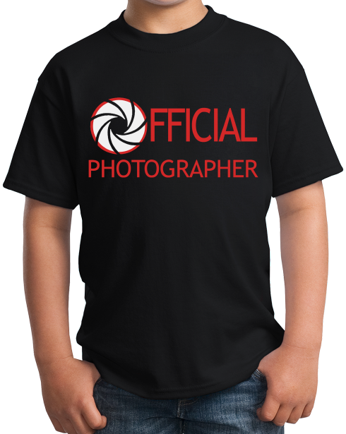Youth Black OFFICIAL PHOTOGRAPHER T-shirt