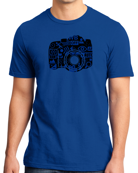 Standard Royal Stylized DSLR Camera Design - Hipster Photography Funny Cool T-shirt