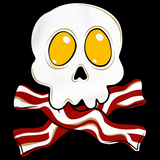 Bacon N' Eggs Skull | Breakfast Humor Black art preview