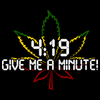4:19 (Give Me A Minute!) | Marijuana Pot Smoking Fan  Black Art Preview