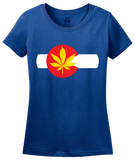 Ladies Royal Colorado Pot Leaf - Marijuana Legalization T-shirt