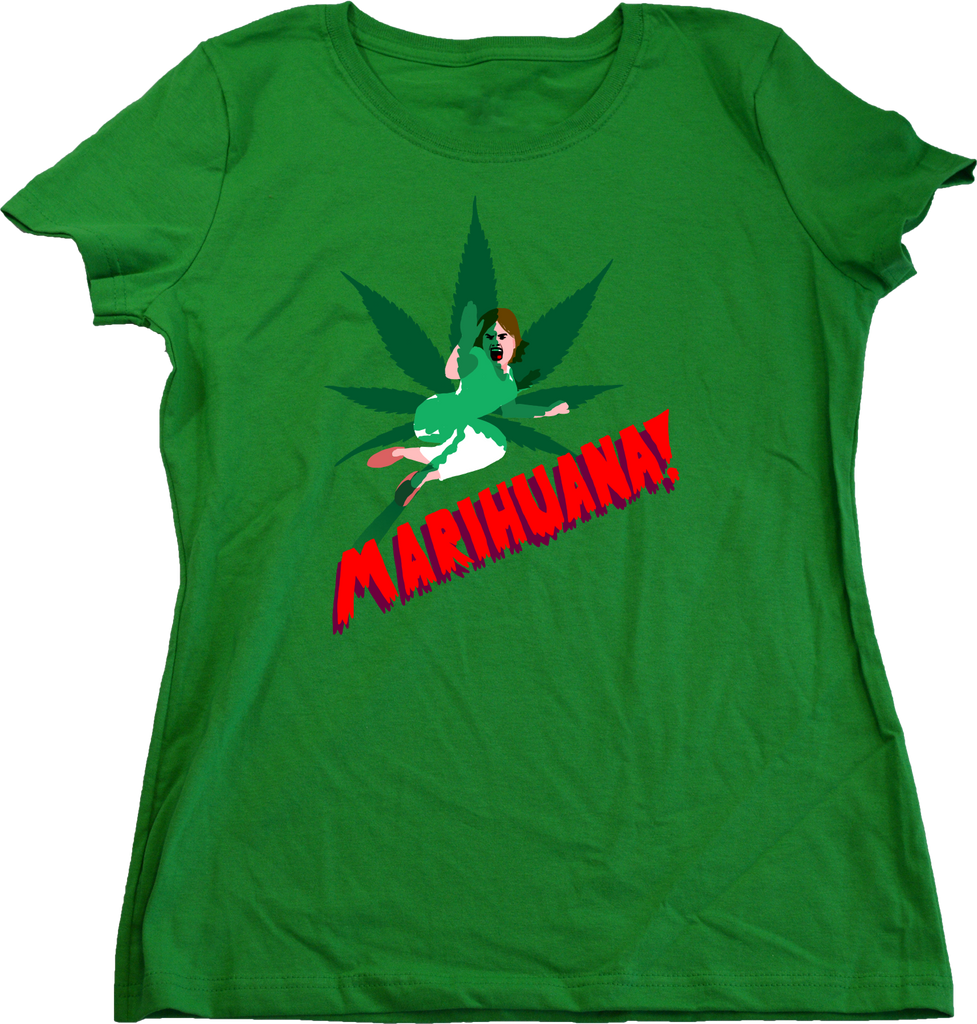 Ladies Green Horrors of Marihuana - Retro Marijuana Reefer Madness Fan Funny T-shirt
