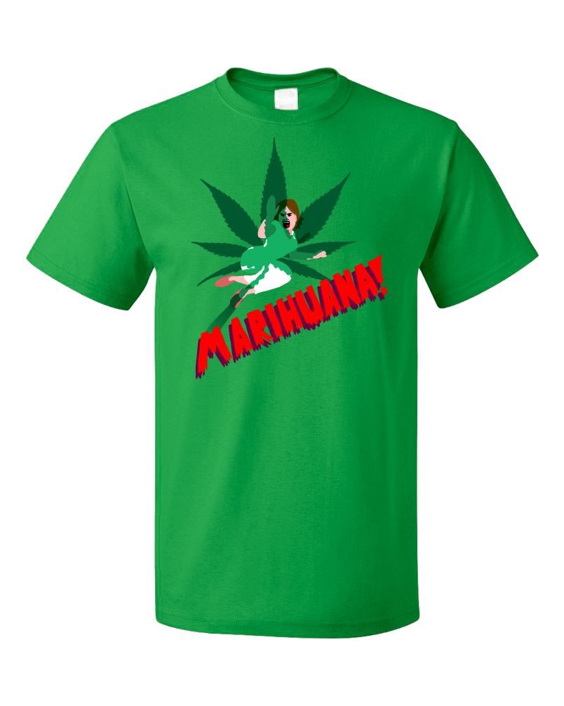 Unisex Green Horrors of Marihuana - Retro Marijuana Reefer Madness Fan Funny T-shirt