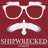 Shipwrecked Logo Crewneck Cranberry Art Preview