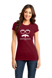 Girly Cranberry Shipwrecked Logo Crewneck T-shirt