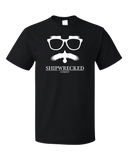 Standard Black Shipwrecked Logo Crewneck T-shirt
