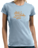 Ladies Light Blue Real Boaters Don't Need Motors - Funny Paddle Rafting Kayak Lake T-shirt