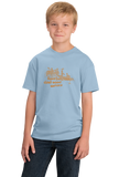 Youth Light Blue Real Boaters Don't Need Motors - Funny Paddle Rafting Kayak Lake T-shirt