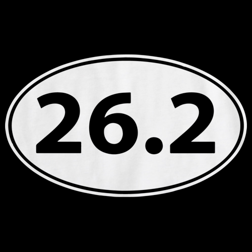 26.2 MARATHON ENTHUSIAST TEE Black art preview
