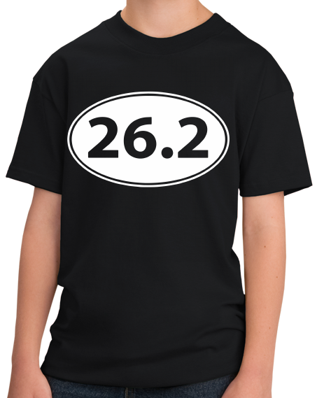 Youth Black 26.2 Marathon Enthusiast - Marathoner Runner Pride Funny T-shirt