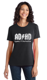 Ladies Black AD/HD - Ritalin Adderall Concerta ADHD ADD Humor Funny Joke T-shirt