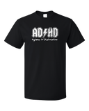 Standard Black AD/HD - Ritalin Adderall Concerta ADHD ADD Humor Funny Joke T-shirt