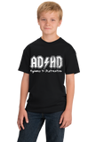 Youth Black AD/HD - Ritalin Adderall Concerta ADHD ADD Humor Funny Joke T-shirt