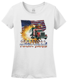 Ladies White America Fuck Yeah! - Merica Patriotism Funny Merica 4th of July T-shirt