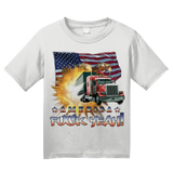Youth White America Fuck Yeah! - Merica Patriotism Funny Merica 4th of July T-shirt