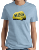 Ladies Light Blue Ann Arbor Rock - University of Michigan Landmark Funny Pride T-shirt
