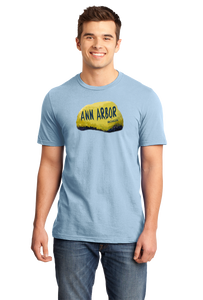 Standard Light Blue Ann Arbor Rock - University of Michigan Landmark Funny Pride T-shirt