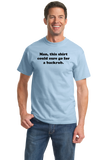 Unisex Light Blue Man, This Could Go For A Backrub - Marriage Humor Joke T-shirt