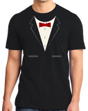 Standard Black Black Tuxedo - Funny Tux Costume Gag Gift Wedding Prom Party T-shirt