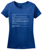 Ladies Royal Blue Screen Of Death - IT Humor Tech Joke Computer Engineer Nerd T-shirt