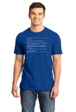 Standard Royal Blue Screen Of Death - IT Humor Tech Joke Computer Engineer Nerd T-shirt