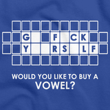 GO F*CK Y**RS*LF - BUY A VOWEL Royal Blue art preview
