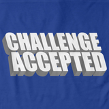 CHALLENGE ACCEPTED Royal Blue art preview