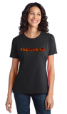 Ladies Black Chilehead - Ghost Pepper Trinidad Scorpion Spicy Chipotle Fan T-shirt