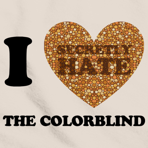 I <3 (SECRETLY HATE) THE COLORBLIND Natural art preview