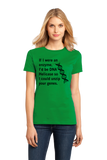 Ladies Green DNA Helicase - Unzip Your Genes - Nerd Humor Geek Pick-Up Line T-shirt