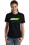Ladies Black DUBWAY, BEAT FRESH T-shirt
