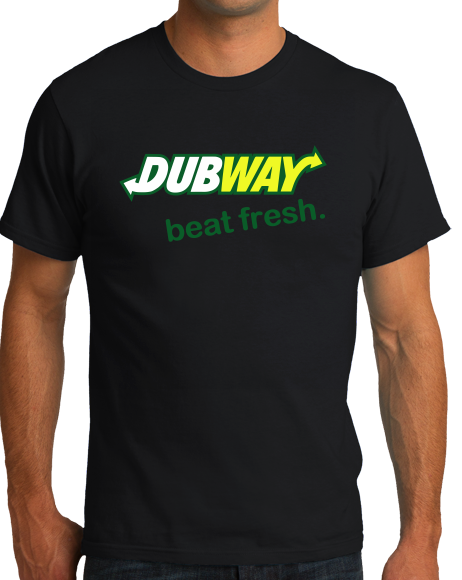 Standard Black DUBWAY, BEAT FRESH T-shirt