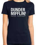 Ladies Navy Dunder-Mifflin Paper Company T-shirt