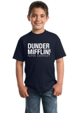 Youth Navy Dunder-Mifflin Paper Company T-shirt