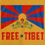 FREE TIBET Gold art preview