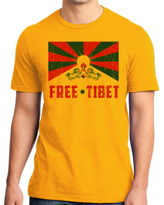 Standard Gold Free Tibet - Tibetan Solidarity Protest Human Rights Awareness T-shirt
