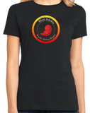 Ladies Black Bhut Jolokia Ghost Chili Pepper - Hot Pepper Trinidad Scorpion T-shirt