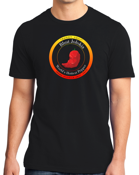 Standard Black Bhut Jolokia Ghost Chili Pepper - Hot Pepper Trinidad Scorpion T-shirt