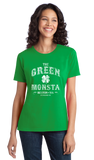 Ladies Green The Green Monstah - Boston Red Sox Fan Tribute Fenway Park T-shirt