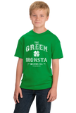 Youth Green The Green Monstah - Boston Red Sox Fan Tribute Fenway Park T-shirt