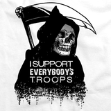DEATH - I SUPPORT EVERYBODY'S TROOPS White art preview