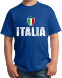 Youth Royal Italia / Italy Soccer - Italian Pride Love World Cup Futbol Fan T-shirt