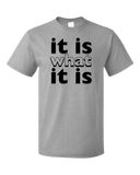 Standard Grey It Is What It Is - Funny Humor Saying, So it Goes T-shirt